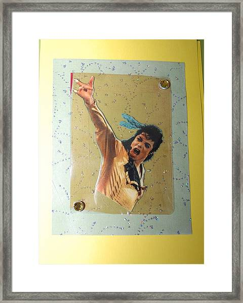 Mj Leave Me Alone Framed Print