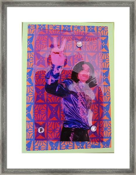 Mj Peace Framed Print