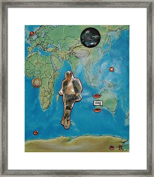 Mj Rock With You Framed Print