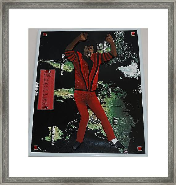 Mj Thriller Framed Print