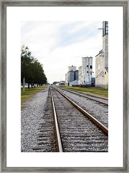 Mkt Rail Framed Print by Teresa Blanton