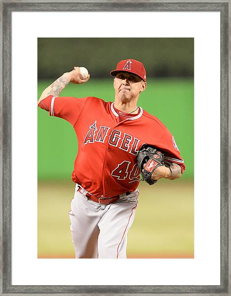 Mlb: May 26 Angels At Marlins Framed Print by Icon Sportswire