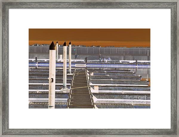 Mocha Dock 2 Framed Print