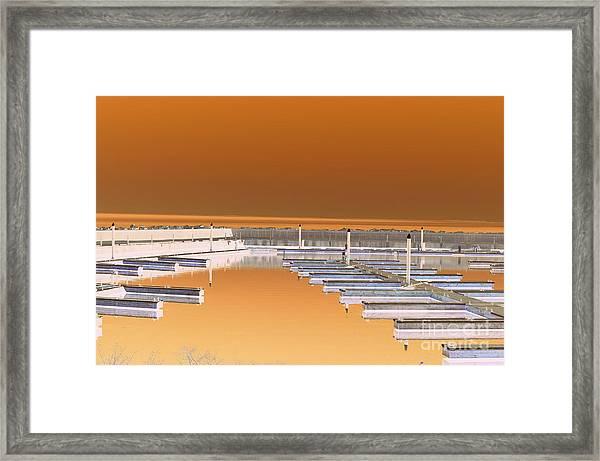Mocha Dock Framed Print