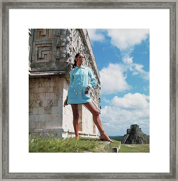Model Wearing A B H Wragge Tunic In Tula Framed Print