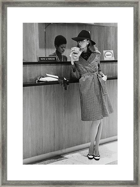 Model Wearing A Henry Friedrich Coat Framed Print