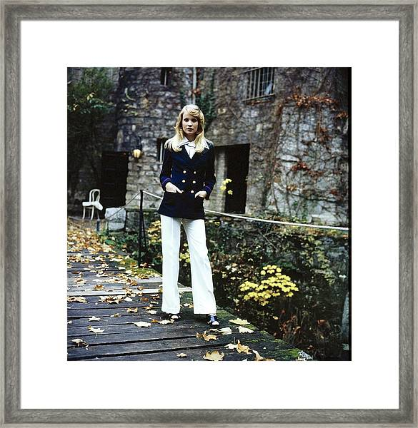 Model Wearing A Pantsuit Framed Print