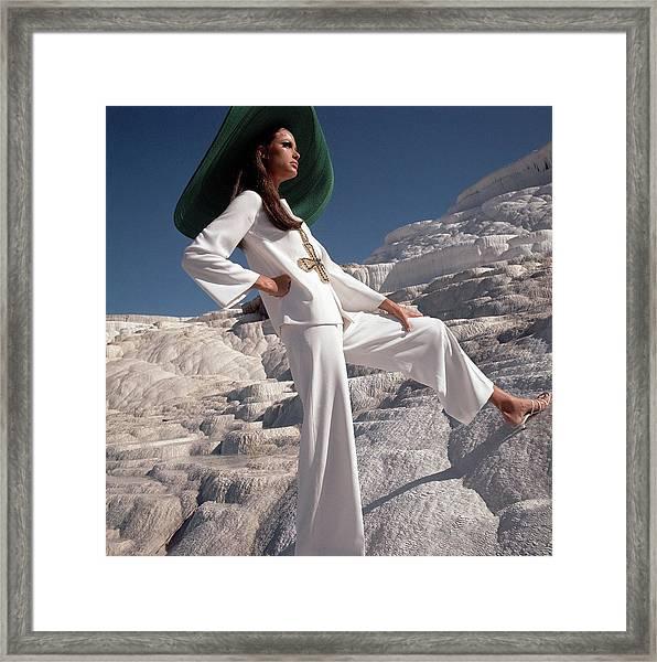 Model Wearing Ellen Brooke For Sportswear Couture Framed Print