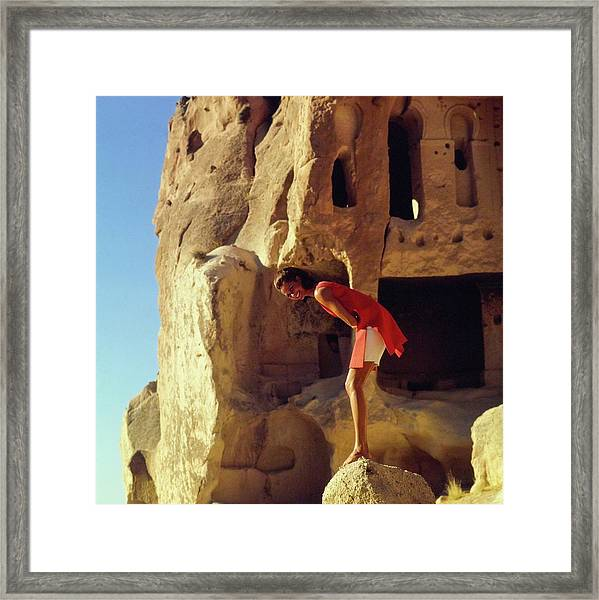 Model Wearing Jacques Tiffeau By Caves Framed Print