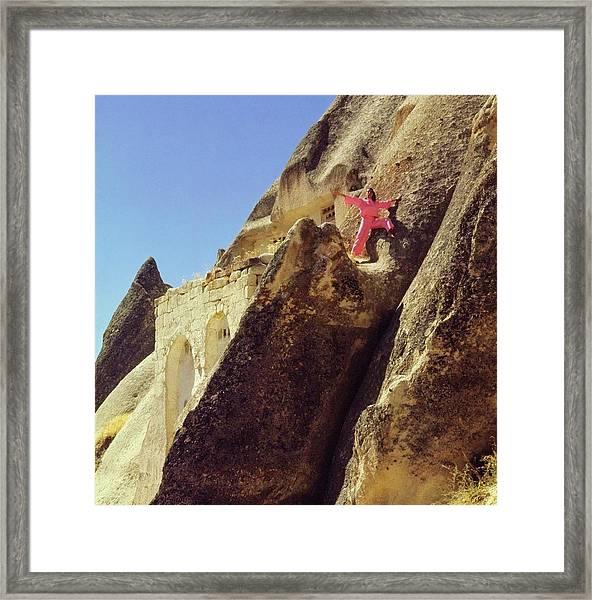 Model Wearing Pink Pajamas Framed Print