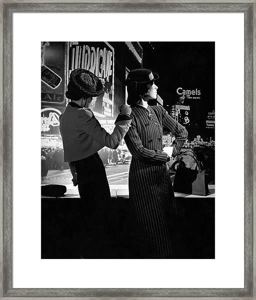 Models In New York City Framed Print by Horst P. Horst