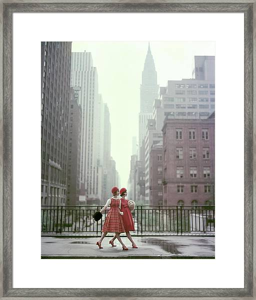 Models In New York City Framed Print
