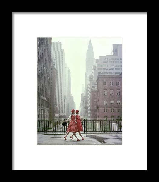 Models In New York City Framed Print