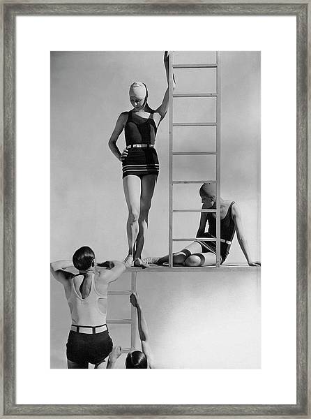 Models Wearing Bathing Suits Framed Print