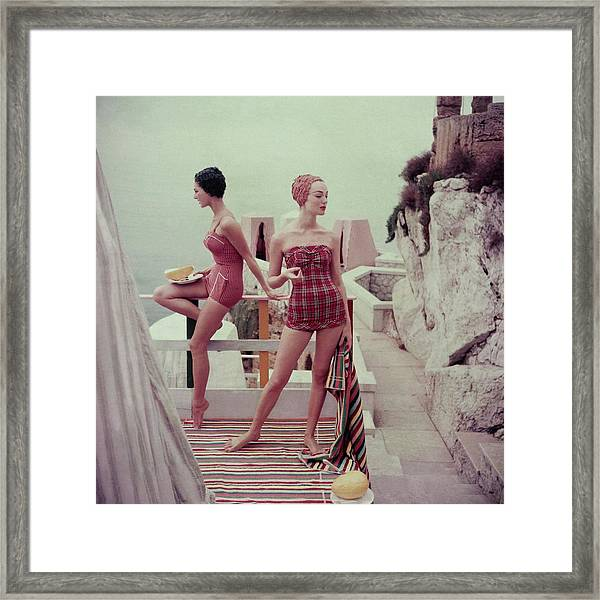 Models Wearing Bathing Suits In Palermo Framed Print
