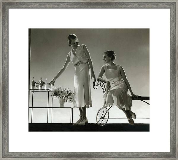 Models Wearing Dresses Framed Print