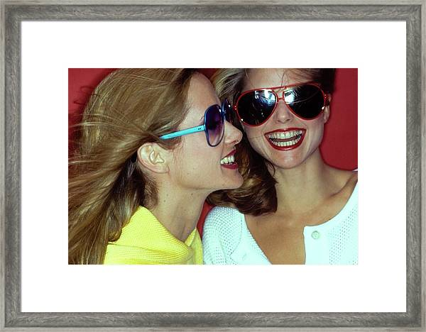 Models Wearing Sunglasses Framed Print by Jacques Malignon