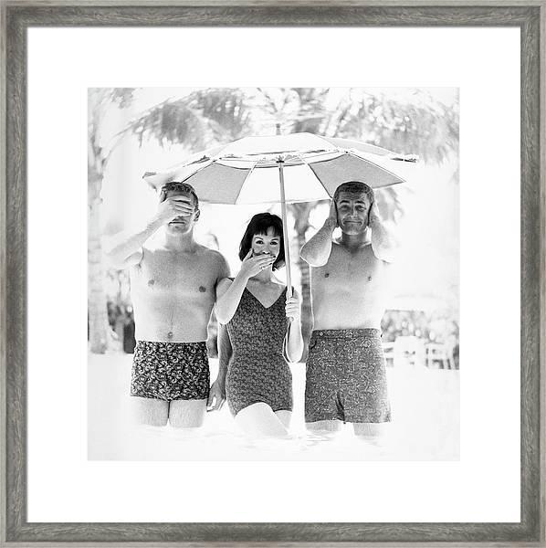 Models Wearing Swimwear Framed Print