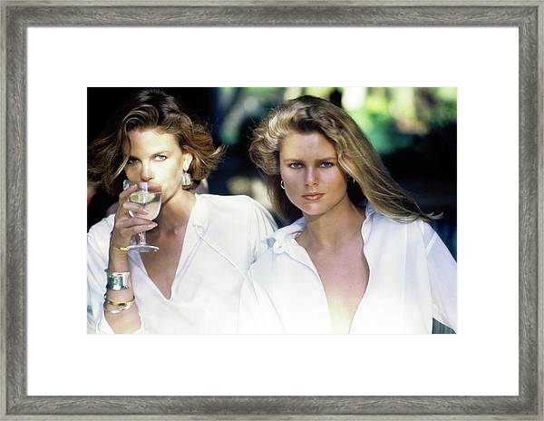 Models Wearing White Shirts Framed Print