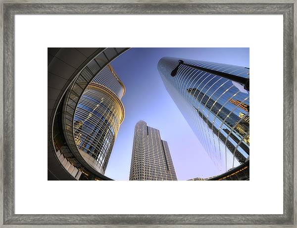 Modern Architecture Of Houston Framed Print by Shobeir Ansari