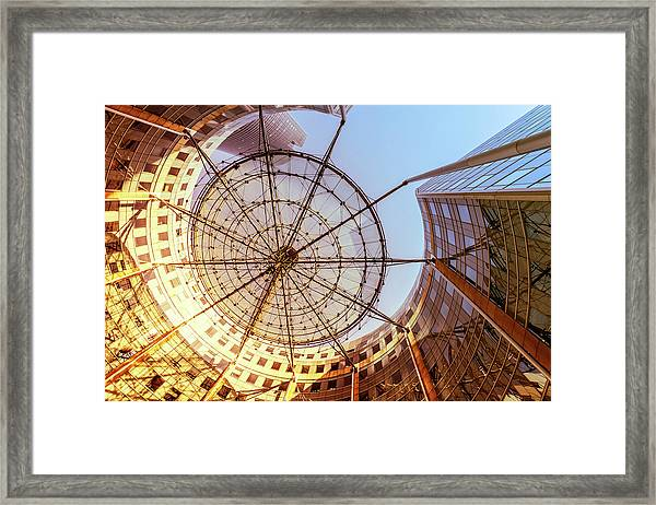 Modern Architecture With Sun Shade Framed Print