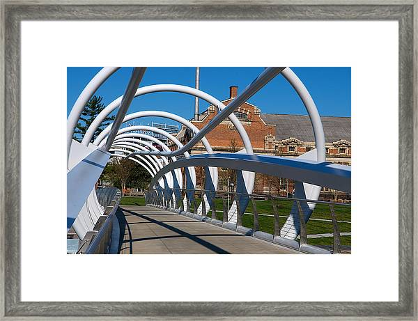 Modern Bridge  Framed Print