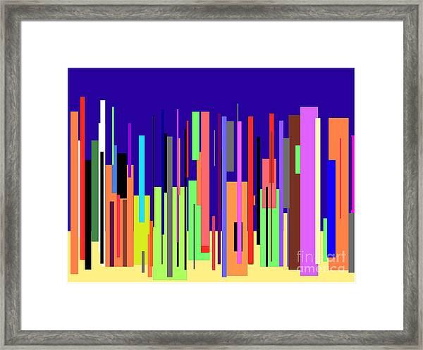 Modern Cityscape Framed Print