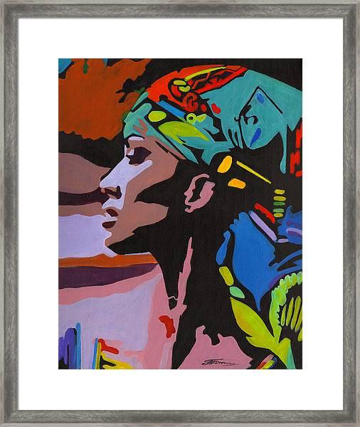 Modern Nefertiti Framed Print