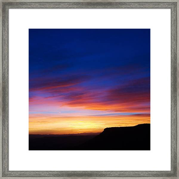 Mogollon Rim Afterglow Framed Print