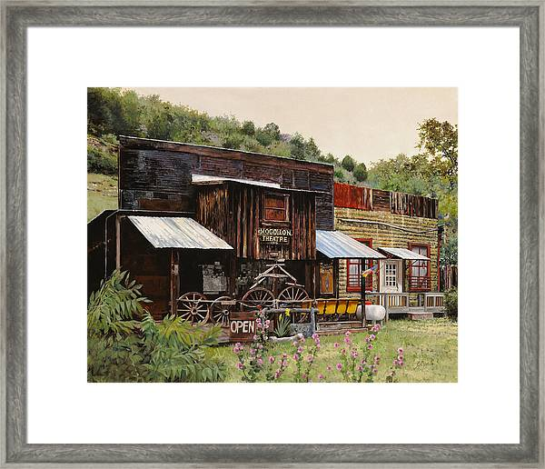 Mogollon-theatre-new Mexico  Framed Print