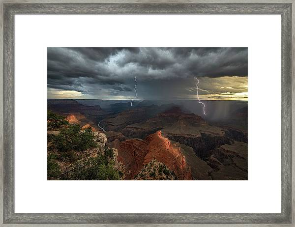Mohave Point Thunderstorm Framed Print