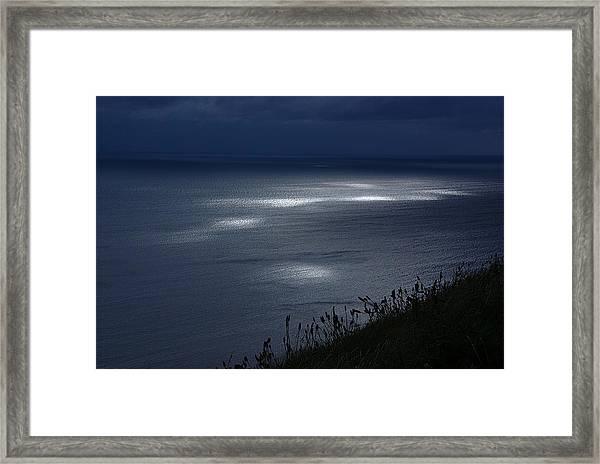 Moher Light Dance Framed Print