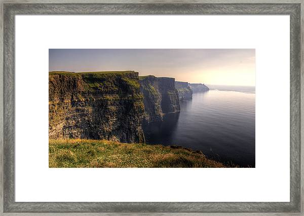 Moher Sunset Framed Print