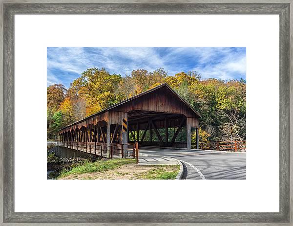 Mohican Covered Bridge Framed Print