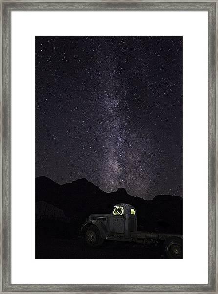 Mojave Milky Way Framed Print