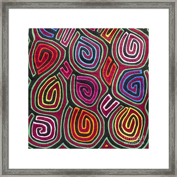 Mola Art Framed Print