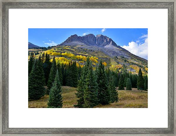 Molas Pass Fall Color Framed Print