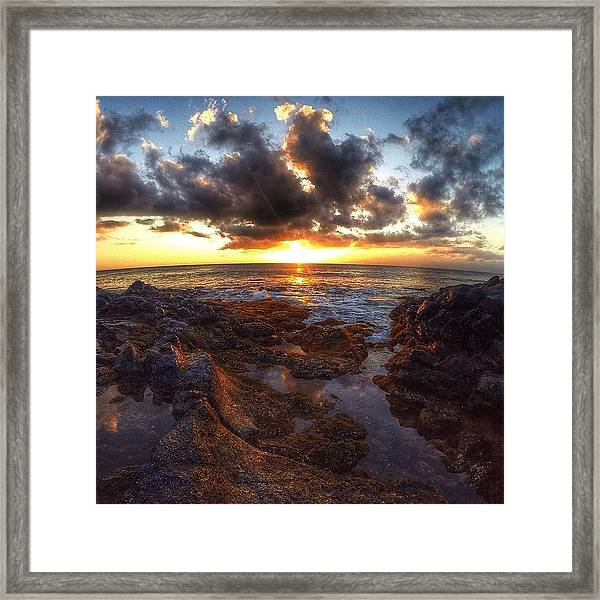 Molokai Sunset Framed Print