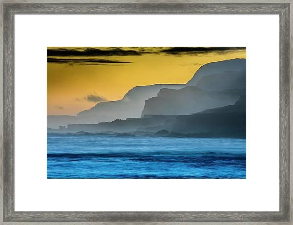 Molokais North Shore Sea Cliffs Framed Print