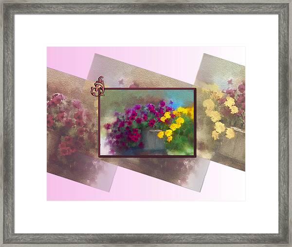 Moms Garden Art Framed Print