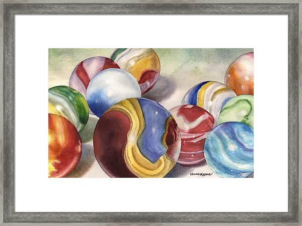 Mom's Marble Shooter Framed Print