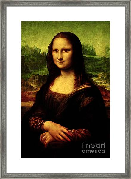 Mona Lisa Framed Print