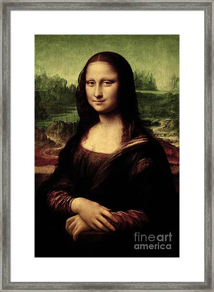 Mona Lisa Painting Framed Print