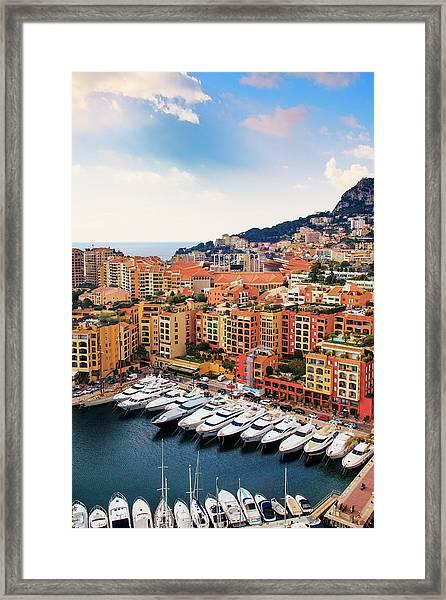Monaco - Exclusive Parking Framed Print