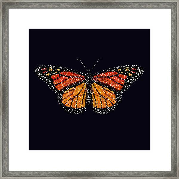 Monarch Butterfly Bedazzled Framed Print