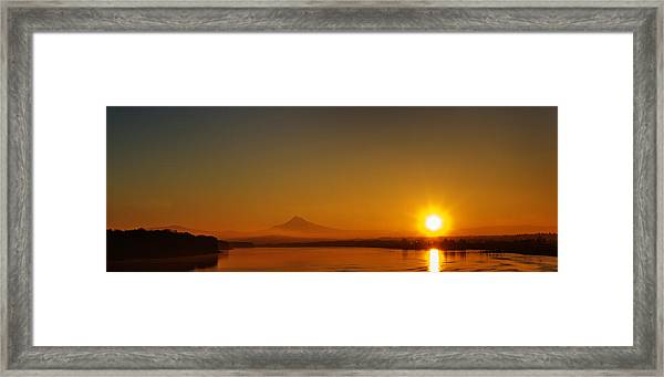 Monday Morning Columbia River Mount Hood Framed Print