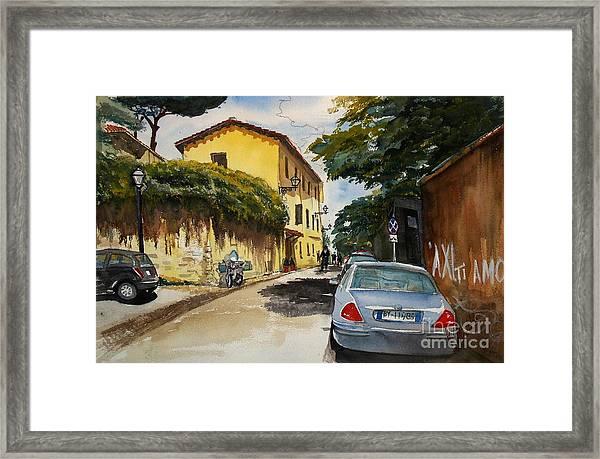 Monestero Foresteria Rome Framed Print