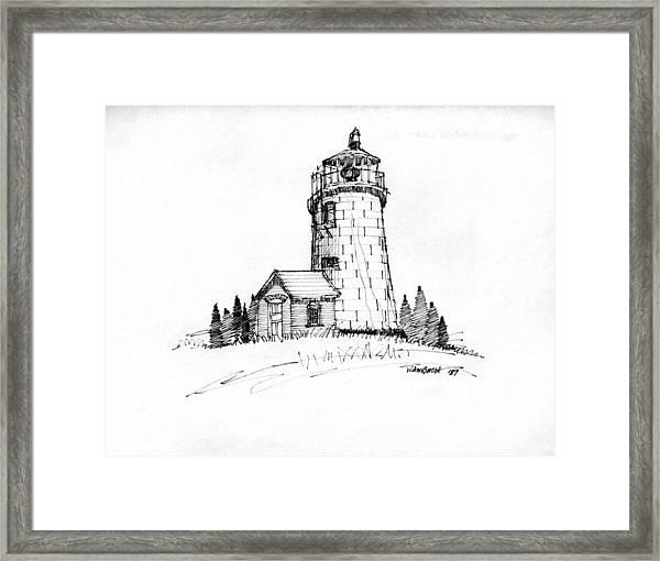 Monhegan Lighthouse 1987 Framed Print