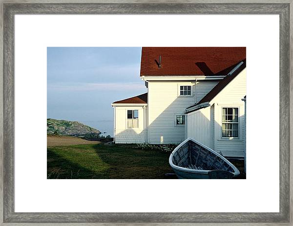 Framed Print featuring the photograph Monhegan Museum - Hopper-like by AnnaJanessa PhotoArt