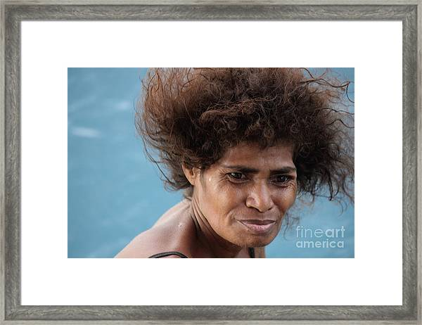 Monica From Papua New Guinea Framed Print